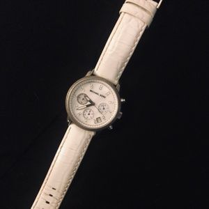Pearl White Micheal Kors Watch
